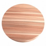600mm, Heatproof Table Top, Round, Teak